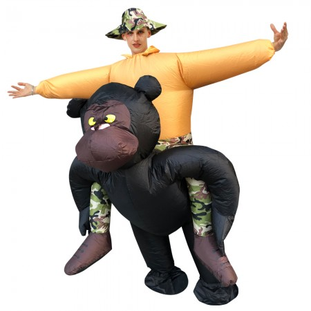 Inflatable King Kong Costume Halloween Blow Up Funny Costumes For Adult