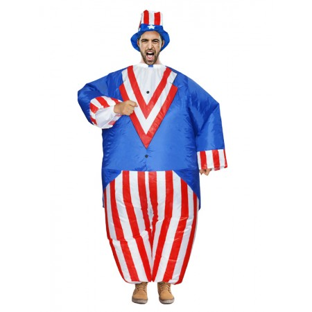 Inflatable Sam Costume Halloween Blow Up Funny Costumes For Adult