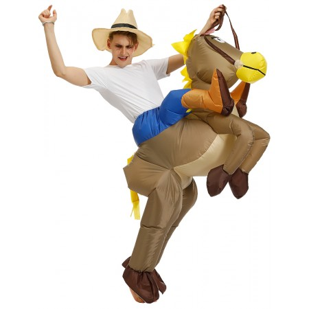 Inflatable Horse Costume Halloween Blow Up Funny Costumes For Adult