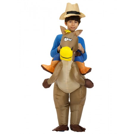 Kids Inflatable Horse Costume Halloween Blow Up Funny Costumes