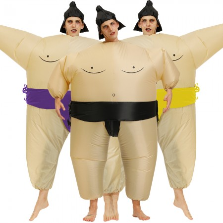 Inflatable Sumo Costume Halloween Blow Up Ride On Funny Costumes For Adult