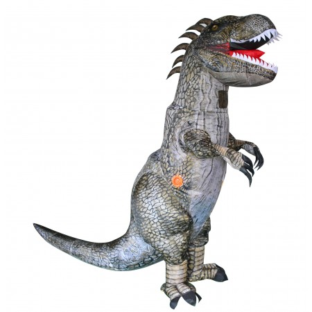Inflatable Dinosaur Costume Halloween Blow Up T Rex Outfit