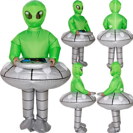 Inflatable Alien Costume Halloween Blow Up Outfit