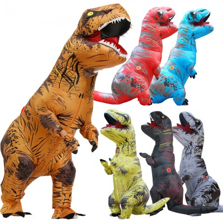 Inflatable T Rex Costumes Halloween Blow Up Dinosaur Funny Outfit