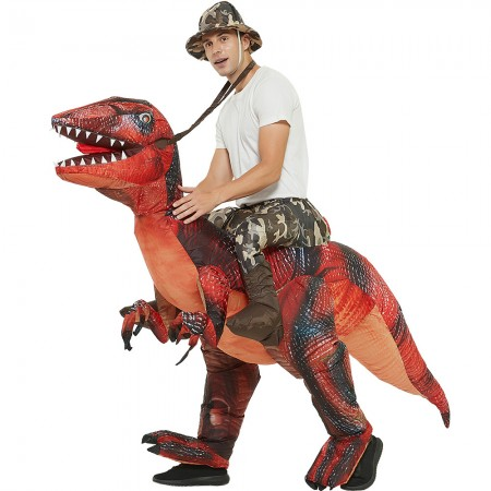 Ride On Blow Up Dinosaur Costumes Halloween Funny Outfit for Adult & Kids