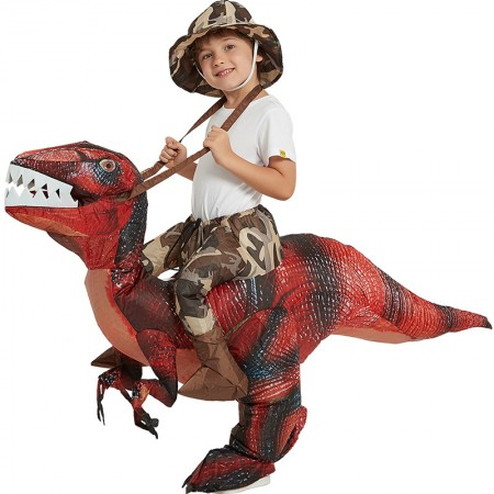Kids Ride On Blow Up Dinosaur Costumes Halloween Funny Outfit