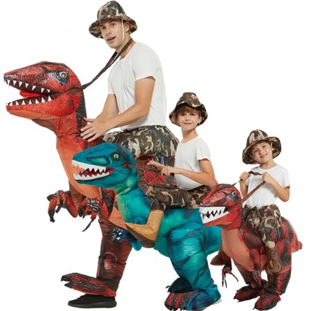 Blow Up Dinosuar Costumes Inflatable Ride On Funny Halloween Costumes For Adult & Kid