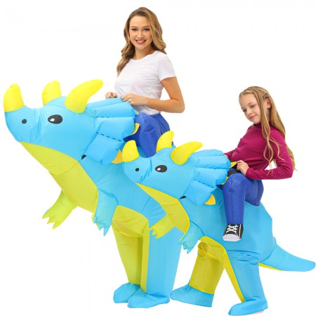 Blow Up Triceratops Costumes Inflatable Ride On Funny Halloween Costumes For Adult & Kid